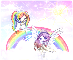 Rainbow Angels by mochatchi