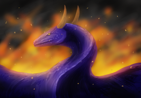 quick dragon painting by theKatandtheBox