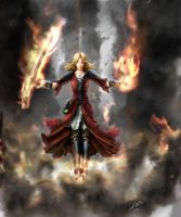 Fire Sorceress by Gafgar