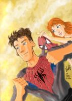Spidey and MJ by ryuzo