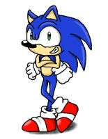 Sonic With 'is Arms Crossed by Yo-yoMaster