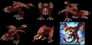Spore Creation: Rathalos by Existent-effigy