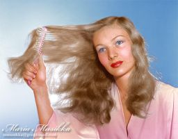 Veronica Lake ~~ 1941 ~~ colourised by Maria-Musikka