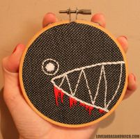 Bloody Chomper Hoop by loveandasandwich