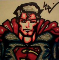 Man of Steel Post-It by dark-es-will