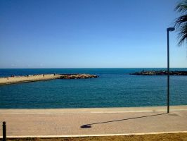 Sea from Civitavecchia - 2nd by debugger20