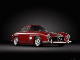 Mercedes Benz Gullwing on BBS by sergoc58