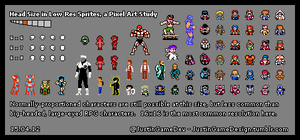 Head Size in Low-Res Sprites 6x6 15.04.12 by JustinGameDesign