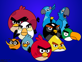 Angry Birds Wallpaper by Coonstito