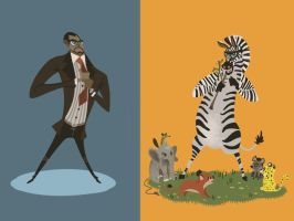 Malcolm X was a Zebra by galgard