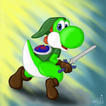 Yoshi Skyward Sword by hkepoetry