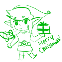 Have a lil Link doodle for Xmas by cloudkit25