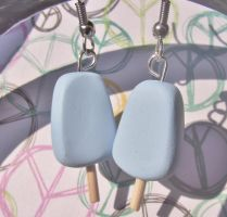 Sea Salt ice cream earrings by kikums