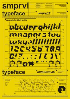 SMPRVL font v01 preview by ashclaimed