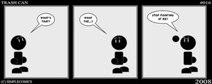 Trash Can  No. 16 by simpleCOMICS