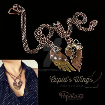 Cupid's Wings v 2.0 Pendant Necklaces by popnicute