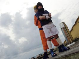 Naruto: Battle on the roof by Smexy-Boy