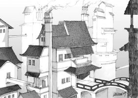 scenery drawing by Lanron