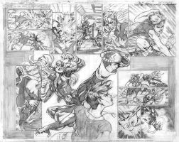 Teen Titans 71 p.14-15 pencils by Cinar