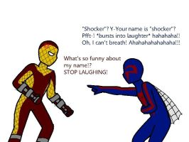 Shocker VS Spider-man 2099 by hayley566