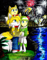 Happy new year 2015 (Tailsmo) by erosmilestailsprower