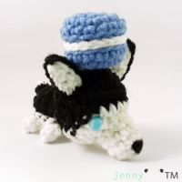 cute chibi Husky amigurumi (for sale~) by jennybeartm
