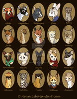 Character Icons by Avanii