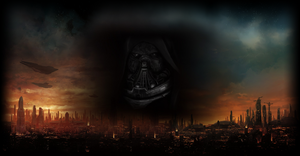 Burning Coruscant - Malgus Wallpaper by Malir80