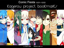 Comic Fiesta'13 -Kagerou Projects Bookmarks- by Na-Nami