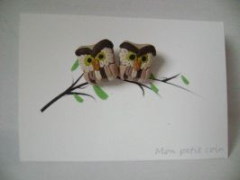 Polymer clay owls (for sale) by monpetitcoin