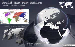 World Map photoshop shape by elvissalaris