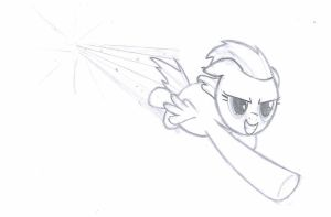 Rainbow dash sonic rainboom sketch by R1pperAnthon