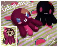 -:Octoplushies of doom:- by FrogsDemoness