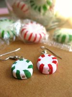 Mint Candy Earrings II by sunnyxshine