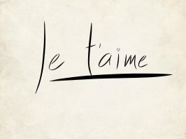Je t'aime by NightChild139