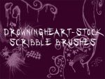 scribble brushes by drowningheart-stock