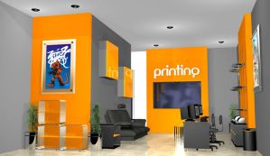 Printing Office Interior by andinobita