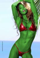 Jennifer Nicole Is SHE-HULK by elneanderthal