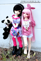 Two friends and a panda. I by ForeverResin