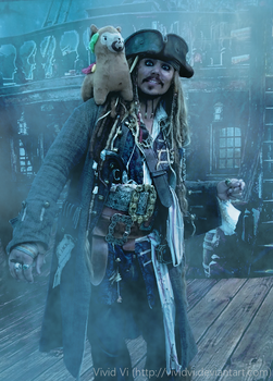Malepaca and Captain Jack Sparrow by VividVi