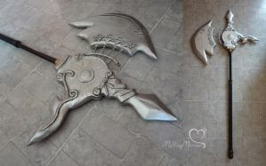 Raquelle Gothic Axe by the-mirror-melts