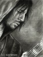Ron 'Bumblefoot' Thal by SavanasArt