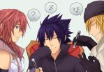 Lightning, Noctis and Snow by NoctisXlighting