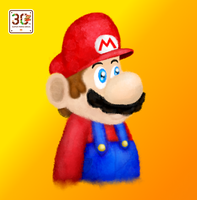 Super Mario 30th Anniversary Painting by nintendofan012