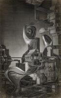 Architectural Abstract I (sketch) by eccoarts