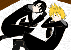 Xion and Roxas taking some RnR by Armonsterz