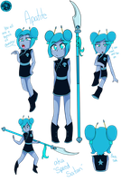 Gemsona: Apatite by StinkiesDraws