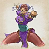 SF3 Chun-li (alt colour) by P3ncils