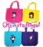 Remote Angel Tote Bags by FaithWalkers