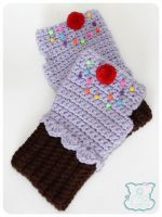 Purple Cupcake Gloves 1 by moofestgirl